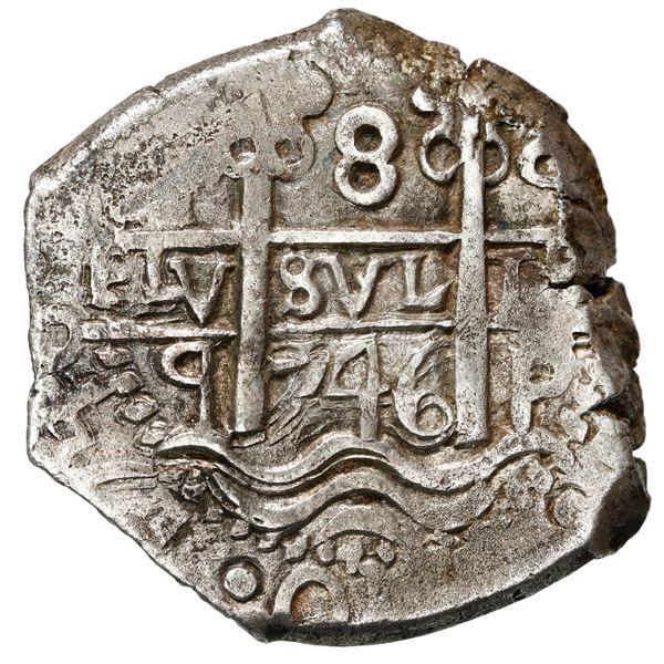 Potosi, Bolivia, cob 8 reales, 1746 q.