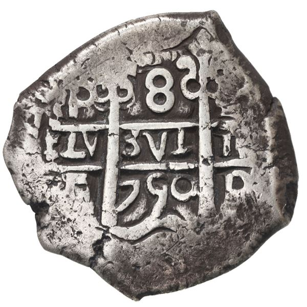 Potosi, Bolivia, cob 8 reales, 1750 E.