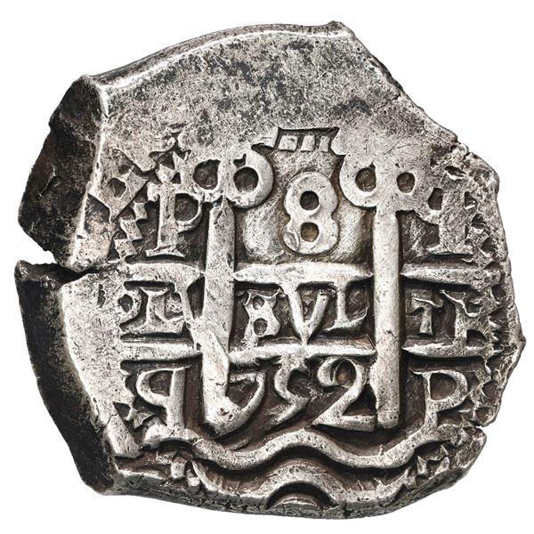 Potosi, Bolivia, cob 8 reales, 1752 q.