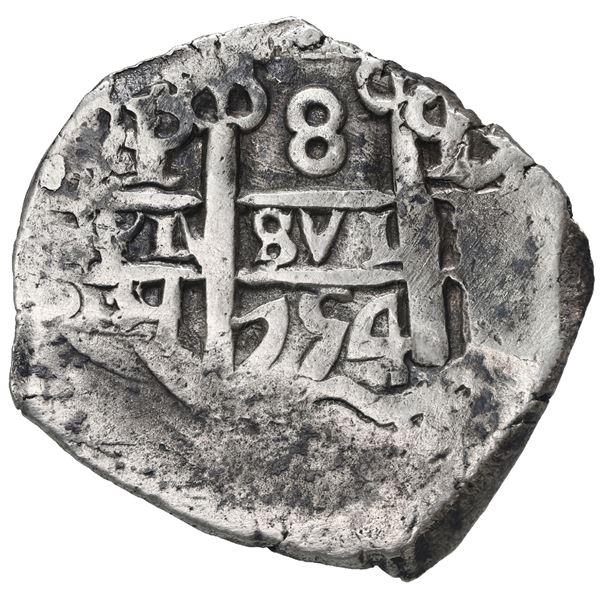 Potosi, Bolivia, cob 8 reales, 1754 q.