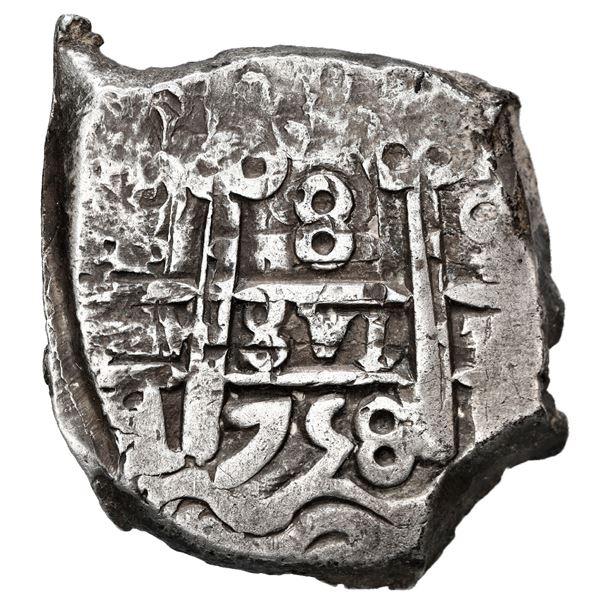 Potosi, Bolivia, cob 8 reales, 1758 q.