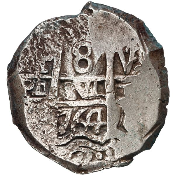 Potosi, Bolivia, cob 8 reales, 1764 V-Y.