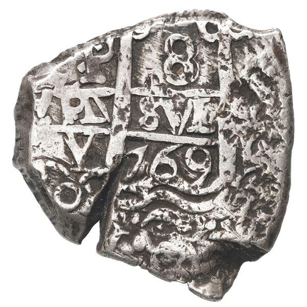 Potosi, Bolivia, cob 8 reales, 1769 V-Y.