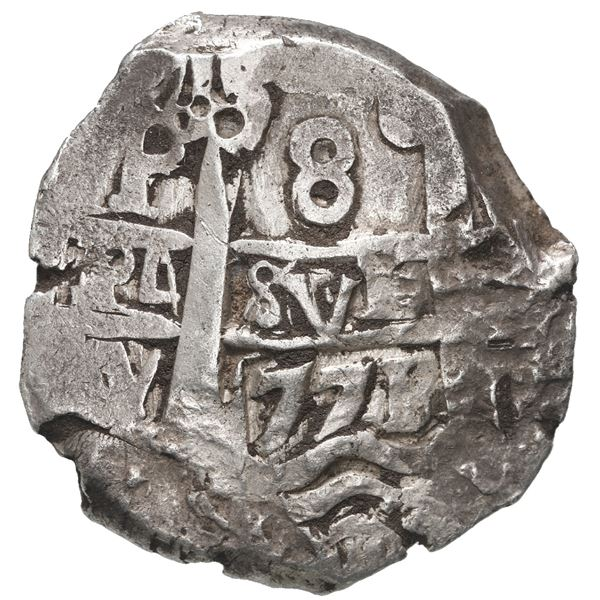 Potosi, Bolivia, cob 8 reales, 1771 V-Y.