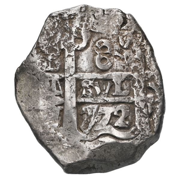 Potosi, Bolivia, cob 8 reales, 1772 V-Y.