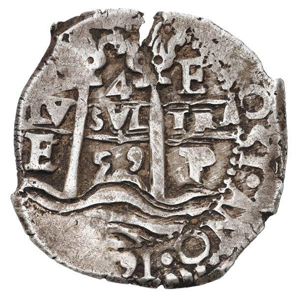 Potosi, Bolivia, cob 4 reales, 1659 E.