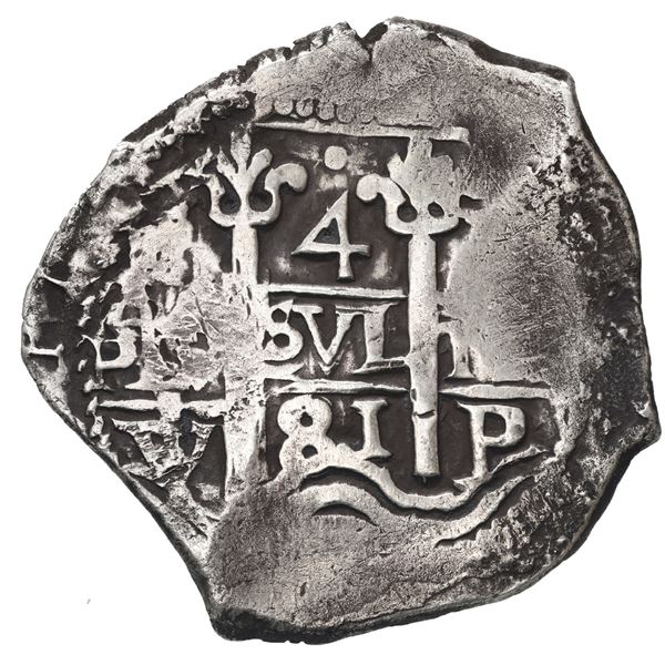 Potosi, Bolivia, cob 4 reales, 1681 V.