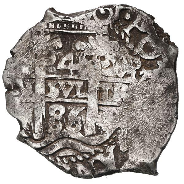 Potosi, Bolivia, cob 4 reales, 1686 VR.