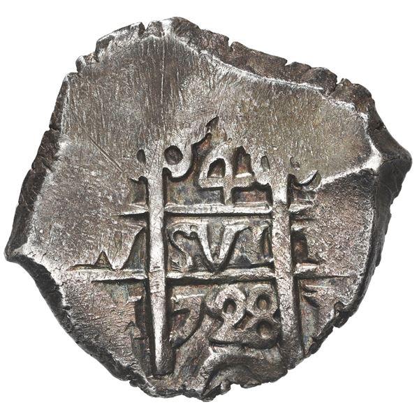 Potosi, Bolivia, cob 4 reales, 1728 M.