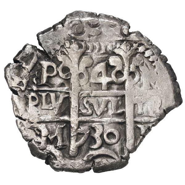 Potosi, Bolivia, cob 4 reales, 1730 M.