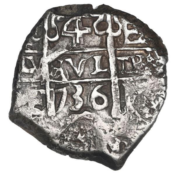 Potosi, Bolivia, cob 4 reales, 1736 E.