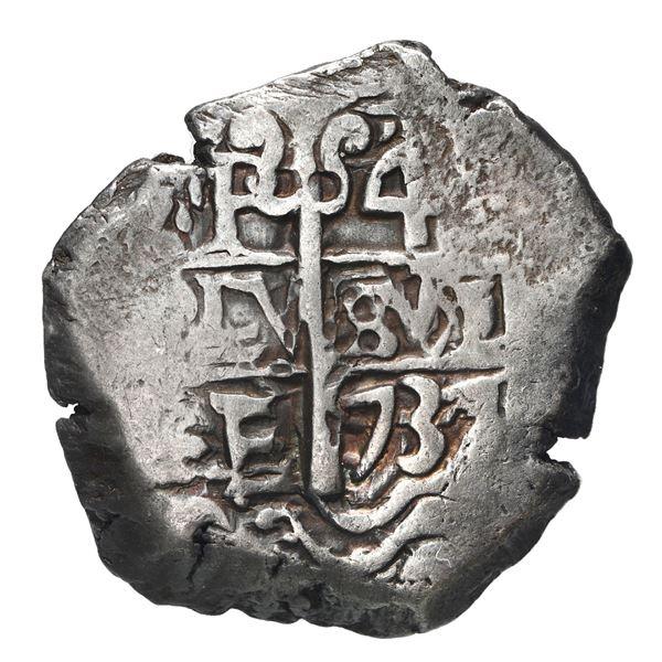 Potosi, Bolivia, cob 4 reales, 1737 E.