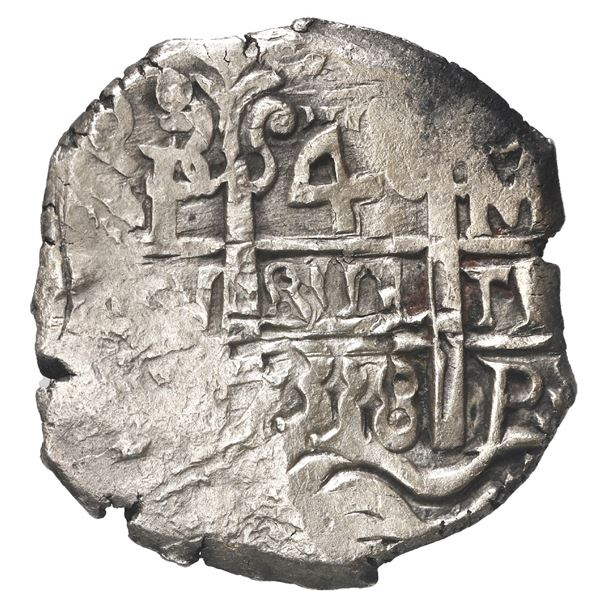 Potosi, Bolivia, cob 4 reales, 1738 M.