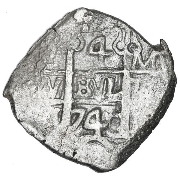 Potosi, Bolivia, cob 4 reales, 1740 M.