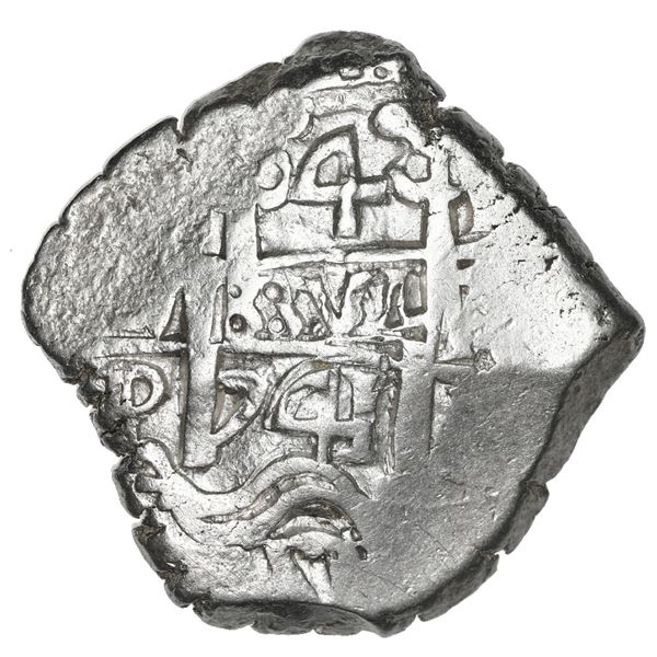 Potosi, Bolivia, cob 4 reales, 1741 P, NGC MS 61, finest and only example in NGC census.