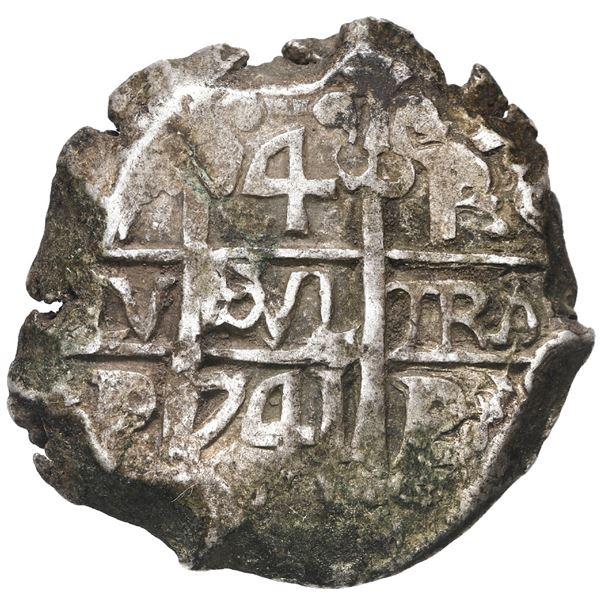 Potosi, Bolivia, cob 4 reales, 1741 P.