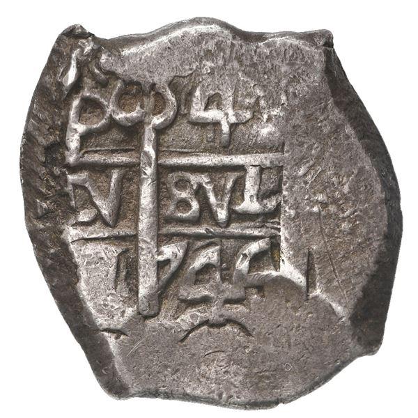 Potosi, Bolivia, cob 4 reales, 1744 q.