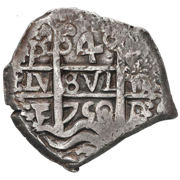 Potosi, Bolivia, cob 4 reales, 1750 E.