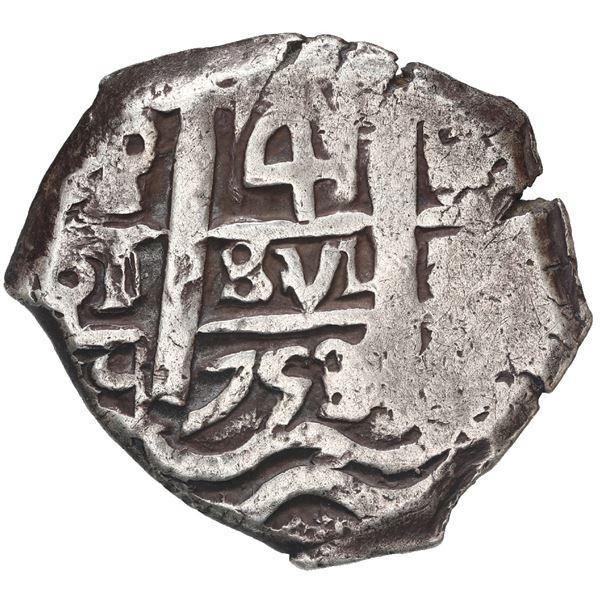 Potosi, Bolivia, cob 4 reales, 1753 q.