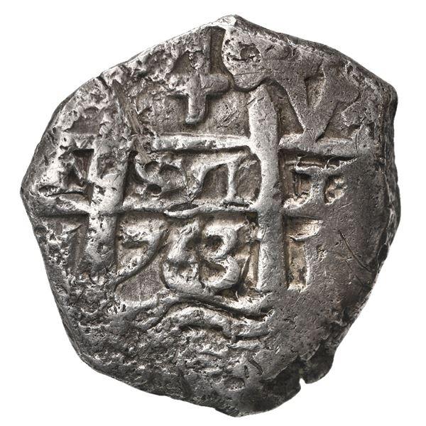 Potosi, Bolivia, cob 4 reales, 1763 V-Y.