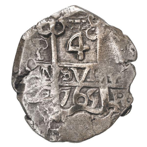 Potosi, Bolivia, cob 4 reales, 1765 V-Y.