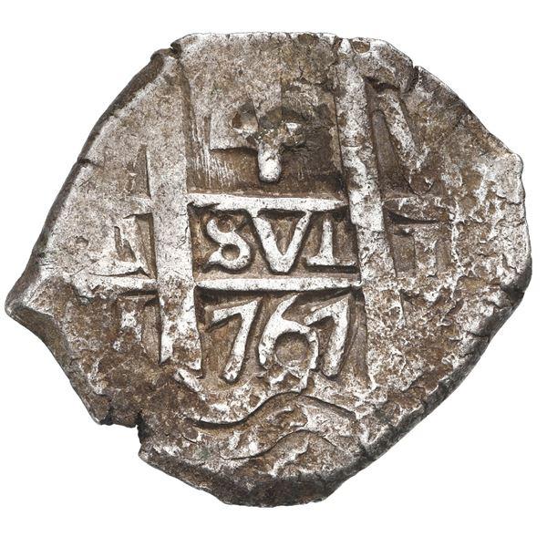Potosi, Bolivia, cob 4 reales, 1767 V-Y.