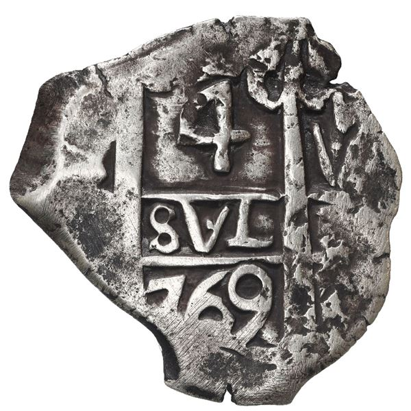 Potosi, Bolivia, cob 4 reales, 1769 V-Y.