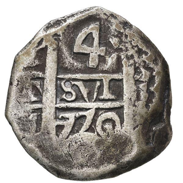 Potosi, Bolivia, cob 4 reales, 1770 V-Y.