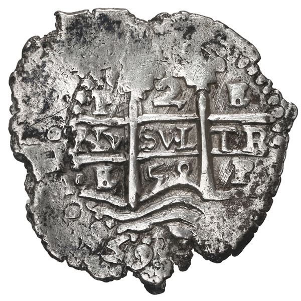 Potosi, Bolivia, cob 2 reales, 1658 E.