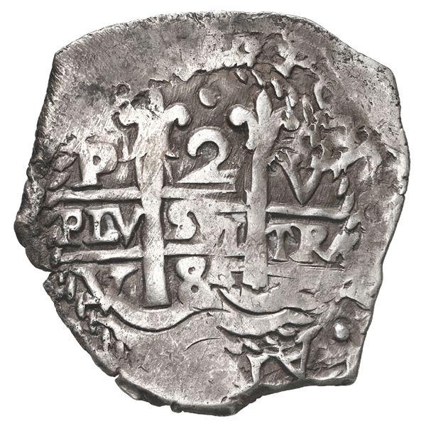 Potosi, Bolivia, cob 2 reales, 1684 V.