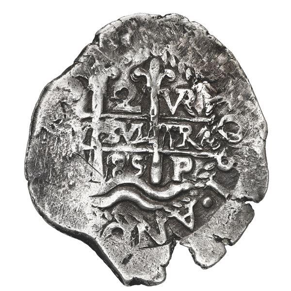 Potosi, Bolivia, cob 2 reales, 1685 VR.
