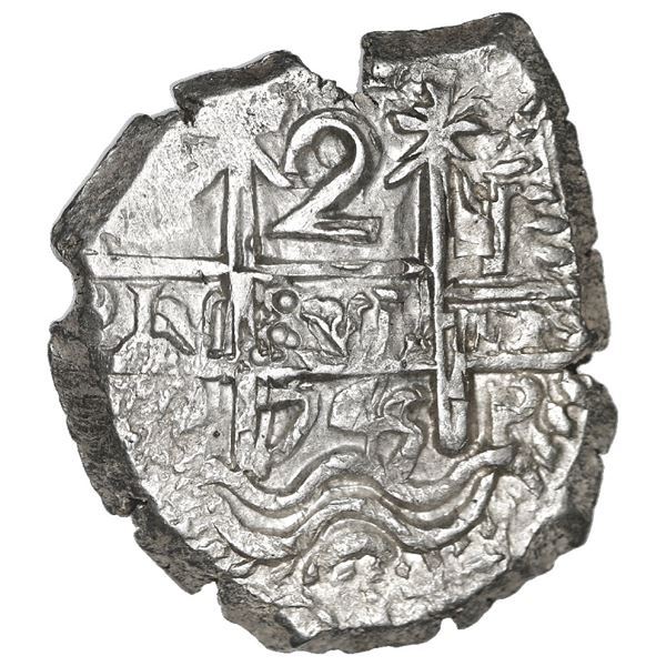 Potosi, Bolivia, cob 2 reales, 1745 q, NGC MS 64, finest known in NGC census.