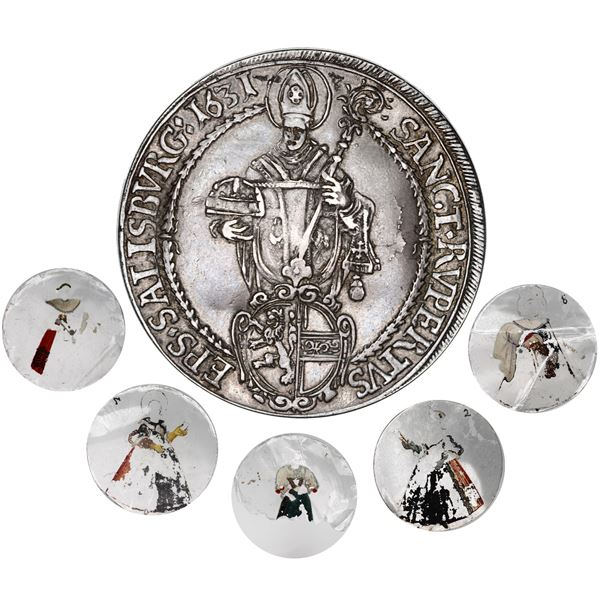 Salzburg, Austria (Holy Roman Empire), taler, Prince-Archbishop Paris von Lodron, 1631, made into a