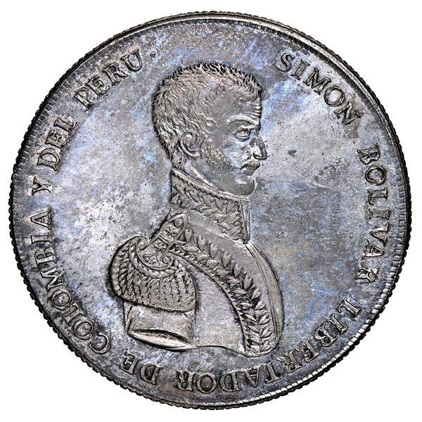 Potosi, Bolivia, 10 soles-sized monetary medal, 1825, Bolivar, NGC MS 61.