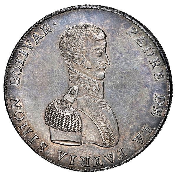 Potosi, Bolivia, 10 soles-sized monetary medal, 1825, Chuquisaca, NGC MS 61.