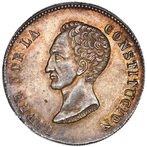 Potosi, Bolivia, 8 soles, 1851 FM, NGC MS 62.