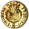 Image 2 : Santiago, Chile, gold bust 8 escudos, Ferdinand VI, 1750 J, NGC MS 62 / La Luz (1752), ex-Sotheby's
