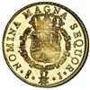 Image 2 : Santiago, Chile, gold bust 8 escudos, Ferdinand VI, 1750 J, NGC MS 61 PL / La Luz (1752), ex-Sotheby