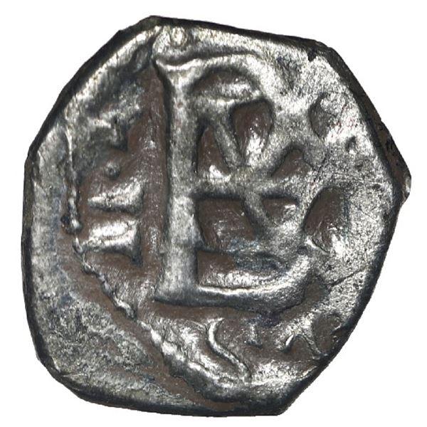 Bogota, Colombia, cob 1/2 real, 1702, no assayer (Arce), Charles II posthumous with Philip V monogra