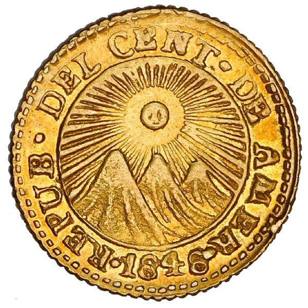 Costa Rica (Central American Republic), gold 1/2 escudo, 1848 JB, NGC AU 58.