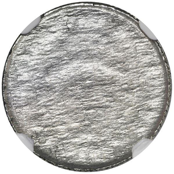 Costa Rica, copper-nickel 10 centimos, 1976 BCCR, NGC Mint Error MS 63, obverse half of lamination.