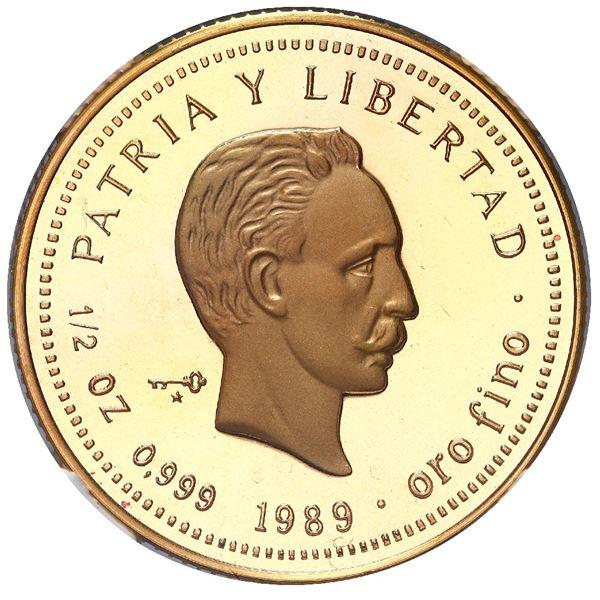 Cuba, gold piefort 50 pesos, 1989, Jose Marti, NGC PF 69 Ultra Cameo, ex-Rudman.