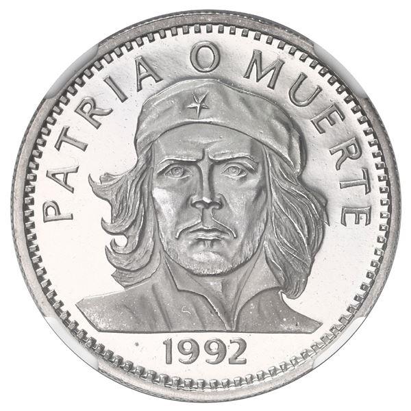 Cuba, silver 3 pesos, 1992, NGC PF 67 Ultra Cameo, Ex-Rudman.