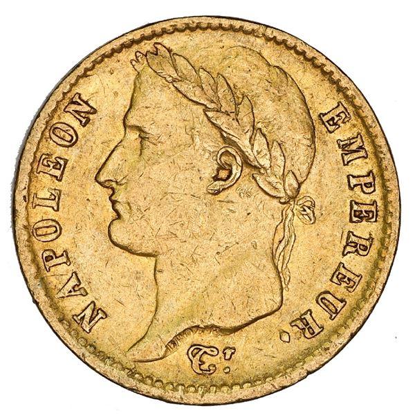 France (Bordeaux mint), gold 20 francs, Napoleon I, 1811-K, NGC AU 50.