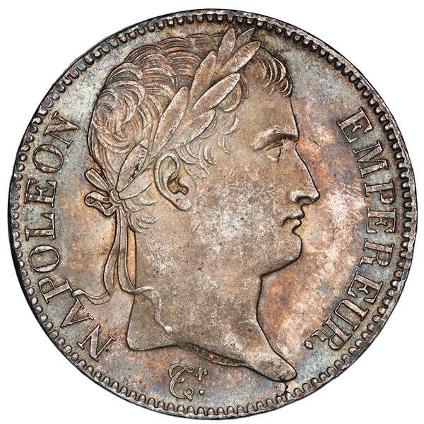 France (Paris mint), 5 francs, Napoleon I, 1815-A, NGC UNC details / reverse spot removed.