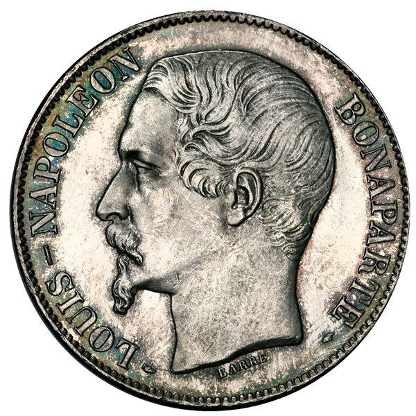 France (Paris mint), 5 francs, Louis Napoleon, 1852-A, narrow head variety, PCGS MS64.