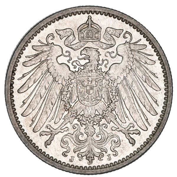 German Empire (Hamburg mint), 1 mark, 1902-J, NGC MS 63.