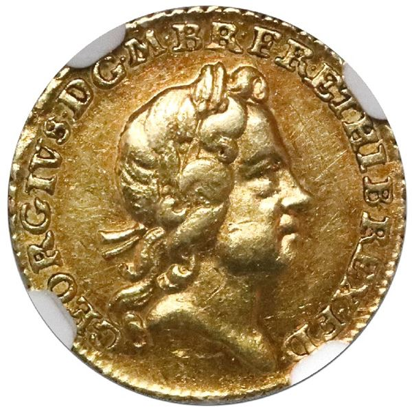 Great Britain (London, England), gold 1/4 guinea, George I, 1718, NGC XF 45.