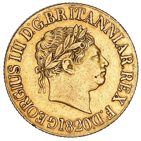 Great Britain (London, England), gold sovereign, George III (new coinage), 1820, open-2 variety, NGC