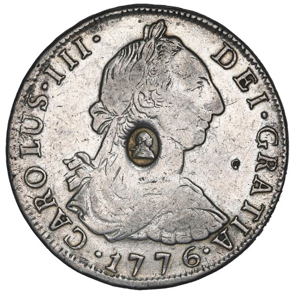 Great Britain, 1 dollar, George III oval countermark (1797-99) on bust of Potosi, Bolivia, bust 8 re